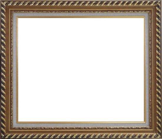 Gold Wood Frame With Linen Liner    20 x 24 inches