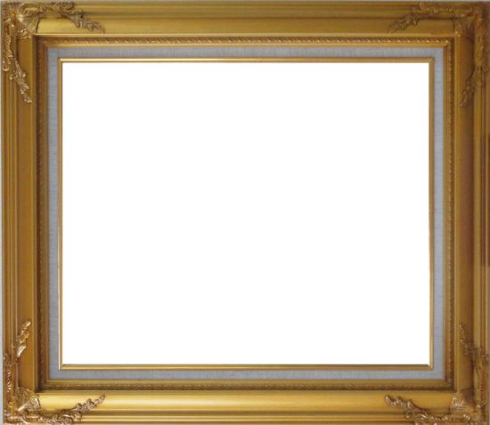 Gold Leaf Wood Frame with Deco Corners     20 x 24 inches