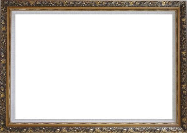 Ornate Antique Dark Gold Wood Frame    24 x 36 inches