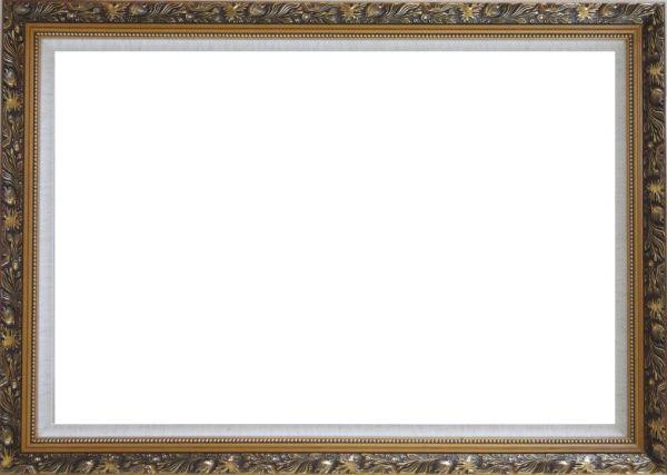Ornate Antique Dark Gold Wood Frame 24 x 36 inches