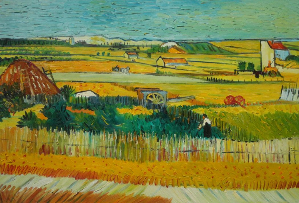 harvest at la crau Page of harvest at la crau (the blue cart) by gogh, vincent van in the web gallery of art, a searchable image collection and database of european painting, sculpture and architecture (700-1900.