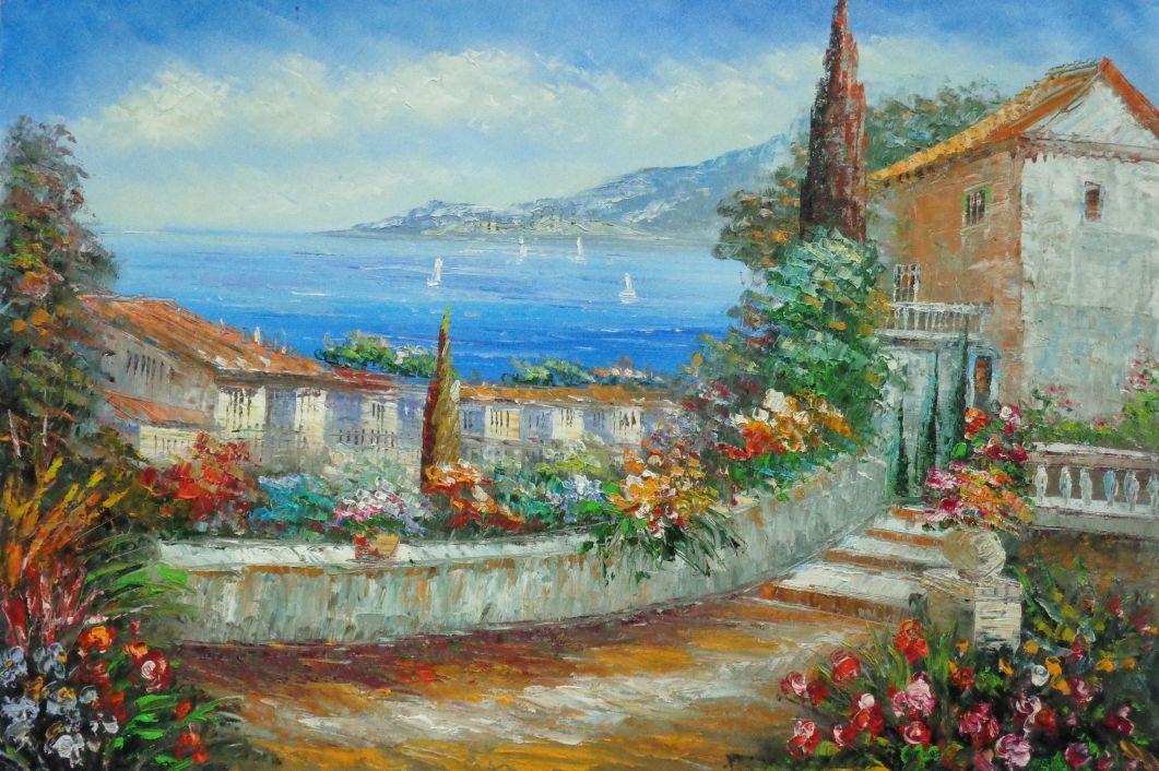 Near Aix-en-Provence by Paul Cezanne | Oil Painting | paul