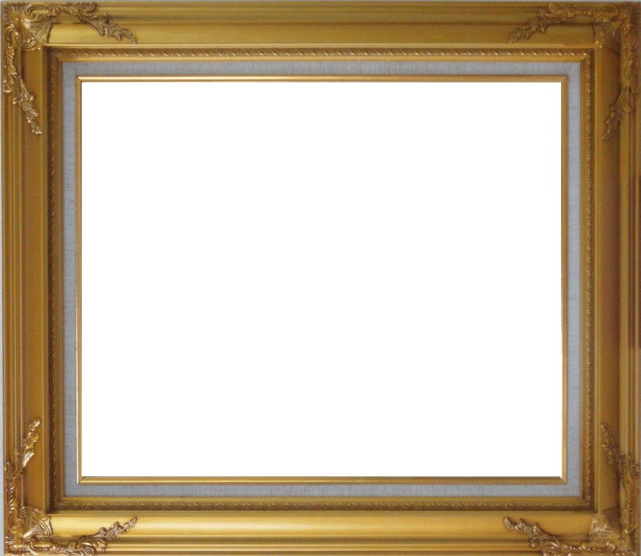 Gold leaf wood frame with deco corners 20 x 24 inches for Picture frame corners