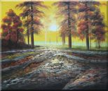Alpine Trees with Sunshine Oil Painting Landscape Naturalism 20 x 24 inches