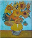 Sunflowers, Van Gogh Masterpieces Reproduction Oil Painting Still Life Post Impressionism 24 x 20 inches