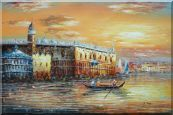 Italian Venice Scene: Serenity Bay Oil Painting Italy Impressionism 24 x 36 inches
