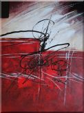 Powerful Force Movement Oil Painting Nonobjective Decorative 48 x 36 inches