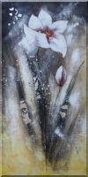 large Modern Elegant Blooming Flower Oil Painting 48 x 24 inches