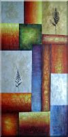 Large Decorative Modern Oil Painting Nonobjective 48 x 24 inches