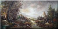 After Rain Oil Painting Landscape River Classic 24 x 48 inches
