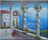 Mediterranean Arch Retreat Oil Painting Naturalism 20 x 24 inches