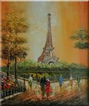 My Wonderful Time At Paris Oil Painting Cityscape France Impressionism 24 x 20 inches