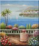 Mediterranean Dream Oil Painting Naturalism 24 x 20 inches