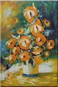 Yellow Roses Still Life Painting Oil Flower Bouquet Impressionism 36 x 24 inches