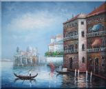 Serenity Venice Harbour Oil Painting Italy Naturalism 20 x 24 inches