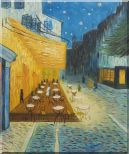 Cafe Terrace At Night, Van Gogh Masterpiece Oil Painting Cityscape France Post Impressionism 24 x 20 inches