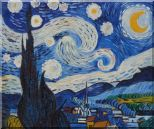 The Starry Night, Van Gogh Reproduction Oil Painting Landscape Post Impressionism 20 x 24 inches