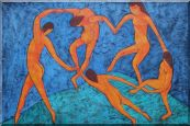 La Danse, Matisse Modern Oil Painting Portraits Woman Dancer 24 x 36 inches