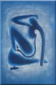 Blue Nude, Matisse Modern Oil Painting Portraits Woman Fauvism 36 x 24 inches