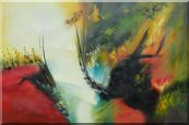 Rapid Rhythm Oil Painting Nonobjective Decorative 24 x 36 inches