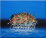 Cyclic Racing Oil Painting Portraits Cycling Modern 20 x 24 inches