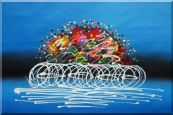 Cyclic Racing Oil Painting