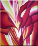 Spark, Abstract Floral Oil Painting Flower Modern 24 x 20 inches