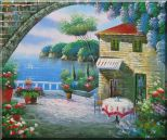 Peaceful Moment Oil Painting Mediterranean Naturalism 20 x 24 inches