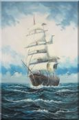 A Big Barque Sailing Ship's Ocean Journey Oil Painting Boat Classic 36 x 24 inches