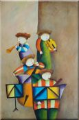 Enjoyable Musical Band Oil Painting Portraits Musician Modern 36 x 24 inches