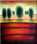 Red Soil Painting Landscape Tree Modern 24 x 20 inches