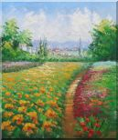 Tuscan Pleasures Oil Painting Landscape Field Impressionism 24 x 20 inches