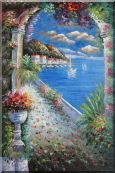 Mediterranean Arch Oil Painting Naturalism 36 x 24 inches