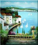 Mediterranean Memory Oil Painting Naturalism 24 x 20 inches