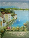 Mediterranean Memory Oil Painting Naturalism 48 x 36 inches
