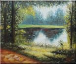 Reflections Oil Painting Landscape River Naturalism 20 x 24 inches