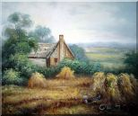 Pleasant Time Oil Painting Village Classic 20 x 24 inches