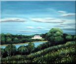 Spring River Oil Painting Landscape Naturalism 20 x 24 inches