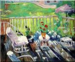 Afternoon Sunshine Oil Painting Garden Impressionism 20 x 24 inches