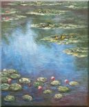 Summer Waterlily Pond , Monet Replica Oil Painting Flower Impressionism 24 x 20 inches