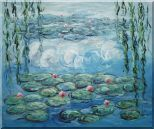 Waterlily and Weeping Willow, Monet Reproduction Oil Painting Flower Impressionism 20 x 24 inches