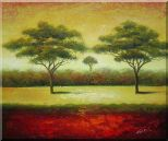 Green Trees Landscape Oil painting Impressionism 20 x 24 inches