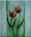 Blooming Purple Tulip Modern Flower Oil painting Decorative 24 x 20 inches