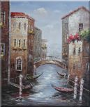 Noon Break Time In Street Of Venice Oil Painting  24 x 20 inches