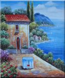 Fresh Sunday Morning of Mediterranean Sesascape Oil Painting Naturalism 24 x 20 inches