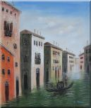 Memorable Gondola Ride in Venice Italy Oil Painting Impressionism 24 x 20 inches
