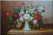 Coloful Flowers on Table Oil Painting Still Life Bouquet Classic 24 x 36 inches