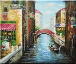 Sunny Day In Venice Oil Painting Italy Impressionism 20 x 24 inches