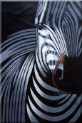 Black and White Zebra I Oil Painting Animal Decorative 36 x 24 inches