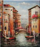 Venice in Afternoon Sunshine Oil Painting Italy Impressionism 24 x 20 inches